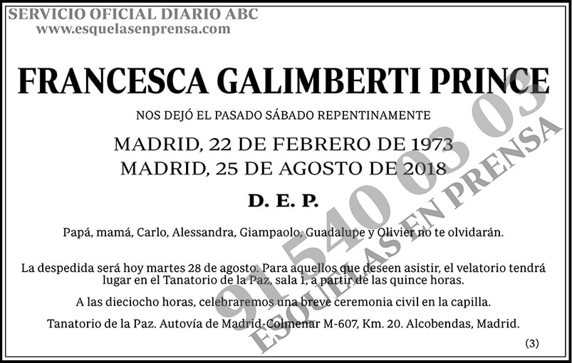 Francesca Galimberti Prince